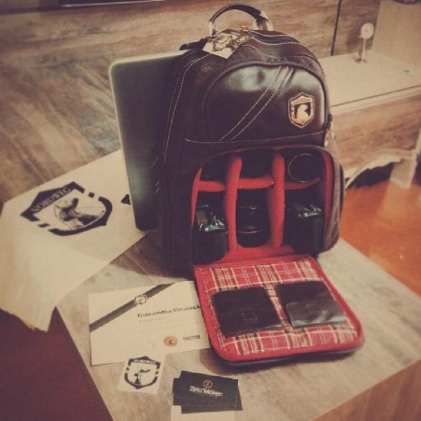 mochila de couro para fotógrafos Nordweg Lentes